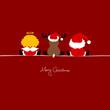 Santa, Angel & Reindeer Red