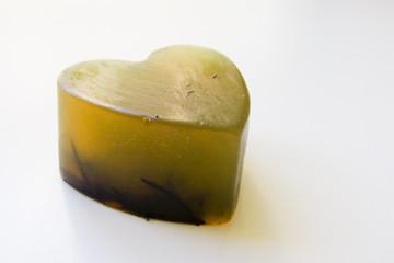 Jabón de Glicerina de Ortiga y Romero con forma de Corazón