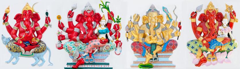 Ganecha statue at Wat Samarn, Chachoengsao, Thailand