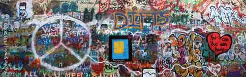 Staande foto Praag John Lennon Wand Prag
