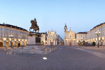 Turin, San Carlo square, Italy
