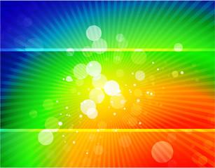 Vector rainbow shiny abstract background