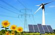 Leinwanddruck Bild - erneuerbare Energie