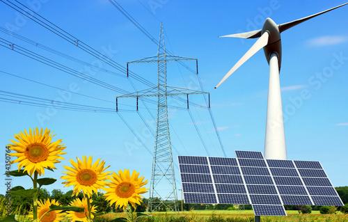 Leinwanddruck Bild erneuerbare Energie