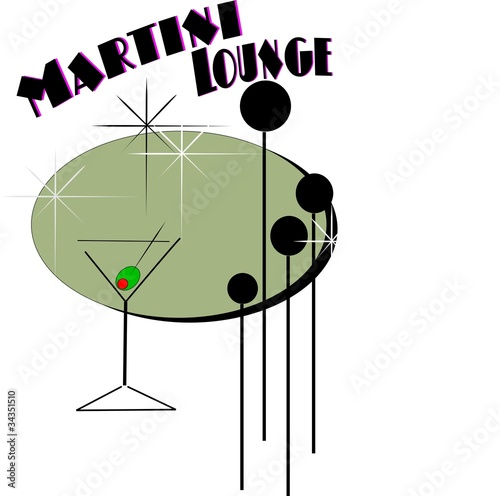 martini in retro style
