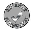 """Label gris """"garantie fabricant"""""""