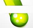 Green glass sphere vector background