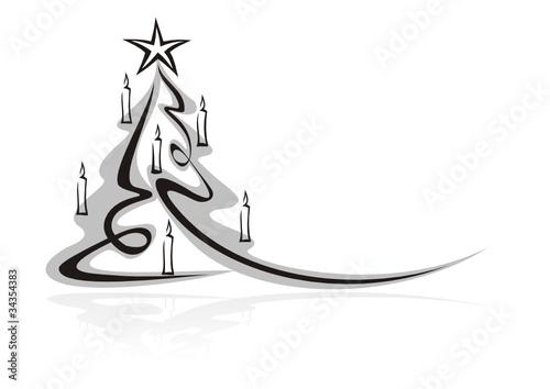 Gamesageddon Weihnachtsmotiv Tanne Mit Kerzen Lizenzfreie Fotos