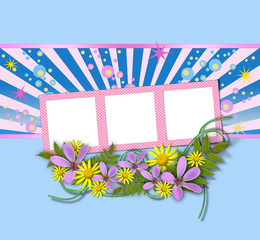 picture frames decorated with flowers