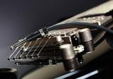 Six-string electric guitar closeup poster