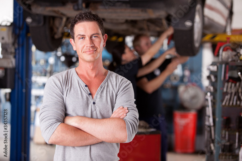Mechanic Man Portrait