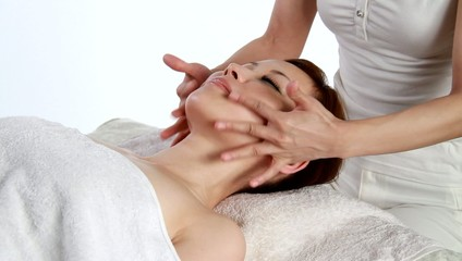 Girl has massage