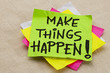 canvas print picture - Make things happen