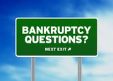 Bankruptcy Questions Road Sign poster