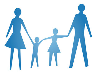 abstract symbol of happy family vector