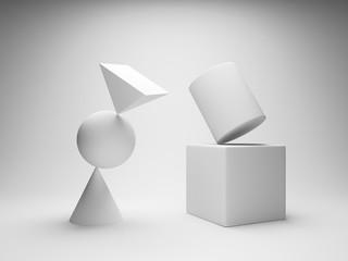 Balancing geometric shapes