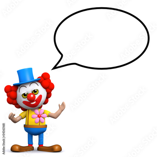 3d Clown talks a lot