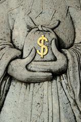 Dollars Stone Bag