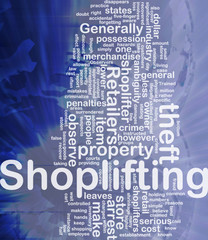 Shoplifting background concept