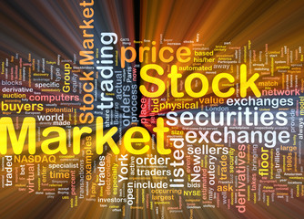 Stock market background concept glowing