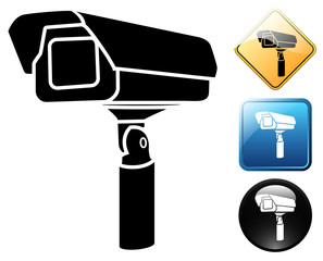 Video camera pictogram and signs