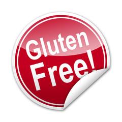 Pegatina Gluten Free! con reborde