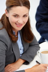 Businesswoman in meeting