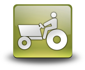 "Yellow 3D Effect Icon ""Tractor"""