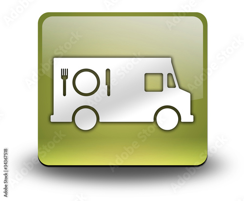 "Yellow 3D Effect Icon ""Food Truck"""