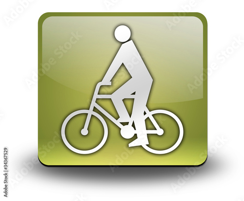 "Yellow 3D Effect Icon ""Bicycler"""