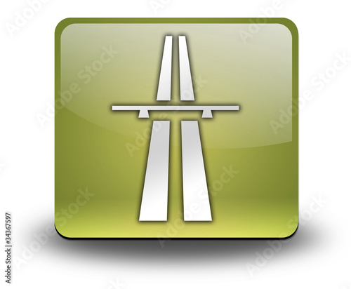 "Yellow 3D Effect Icon ""Highway"""