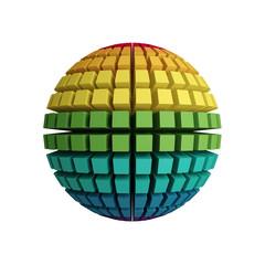 3d rainbow sphere