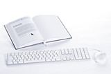 Keyboard and mouse connected to E-book