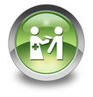 "Green Glossy Pictogram ""Immunizations"""