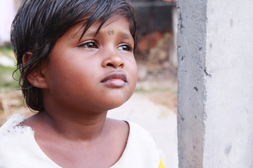 Indian Village Little Girl