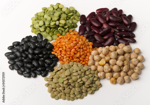 different species of legumes - 34372959
