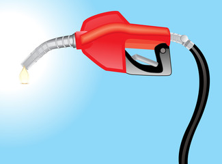 abstract fuel petrol pump handle