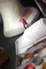 Maquillage, rouge à lèvres, beauté, mode, scène, loge, show