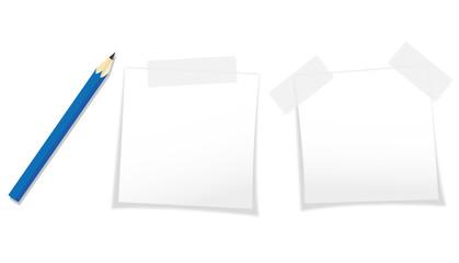 Stift und Post-It