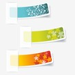 Multicolored stickers. Vector