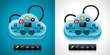 Vector gamers cloud computing XXL icon