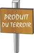 pancarte bois produit du terroir