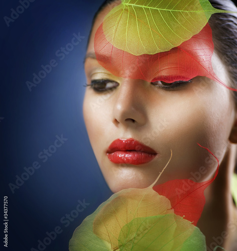 Autumn Makeup. Fashion Art Portrait