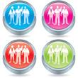 Business icon button-team member having a brainwave