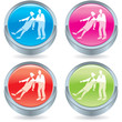 Business icon button-team supporting