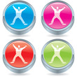 Business icon button-star jump