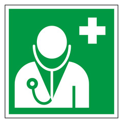Rettungszeichen Arzt Ärtztliche Hilfe Piktogramm Zeichen Symbol