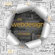 Loch, Webdesign, Hintergrund aufgerissen, TagCloud