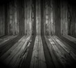 Dark Wooden Room as Background