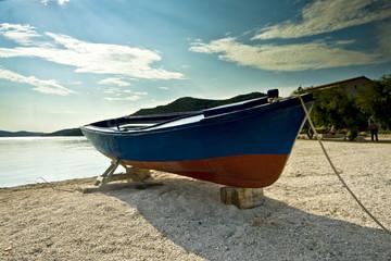 Docked fishing boat in Seget donji